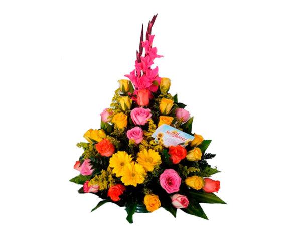 Globos y rosas a toda Santa Marta