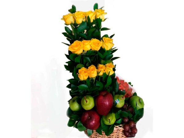Fruteros con rosas en santa marta